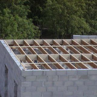 Réalisation construire bois Plancher poutre I  -