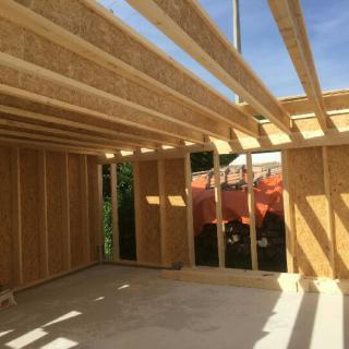 Réalisation construire bois Toiture terrasse en poutre I  - Vierzon